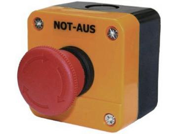 WTS - Einfach-NOT-HALT-Drucktaster (roter Pilz, rastend) Wassergeschützt - Schutzart IP 65