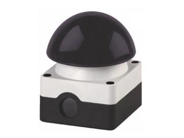 WTS - Grobhand-Pilztaster, Pilz 94 mm schwarz, tastend, Kontakte: 1S + 1Ö Wassergeschützt - IP 65
