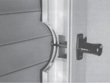 2 x Rollladensicherung RS 87 Montage auf dem Blendrahmen Farbe Weiß