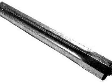 Teleskopstück S 60 länge 500 mm mit eingepreßter Kunststoffbuchse mit 12 mm Stahlzapfen