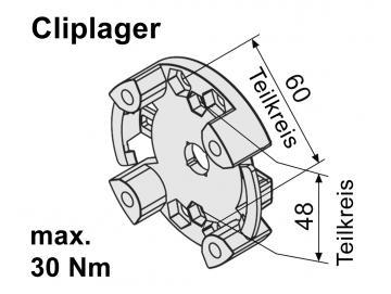 WTS - Vorbaukasten - Markisenlager AM2-L010 für Rohrantriebe AM2 und AE2  Serie Max 30Nm