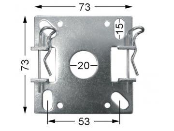 WTS - Vorbau- Blendkappenlager DM-L010 für Rohrmotoren  Ø 45 mm Serie DM - DMF - ME