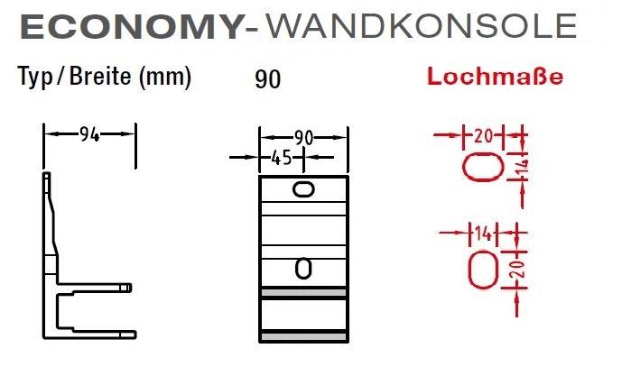 Wandkonsolen, Wandhalter für Lewens Economy-Markise