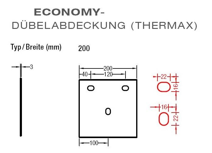 Dübelabdeckung-Thermax für Lewens - Economy Markise