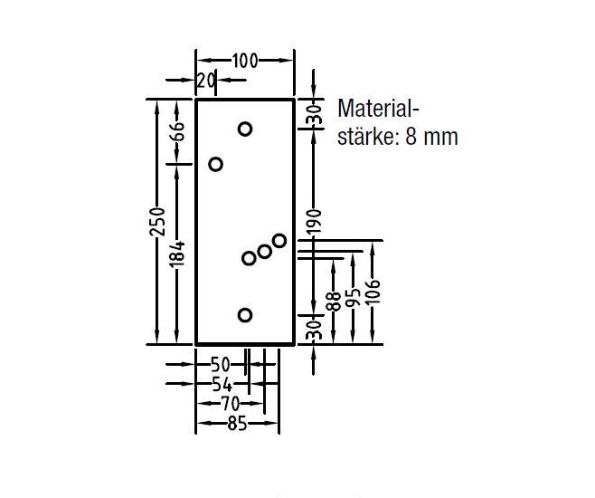 Montageplatte für Dachsparrenhalter Aluminium für Lewens Economy