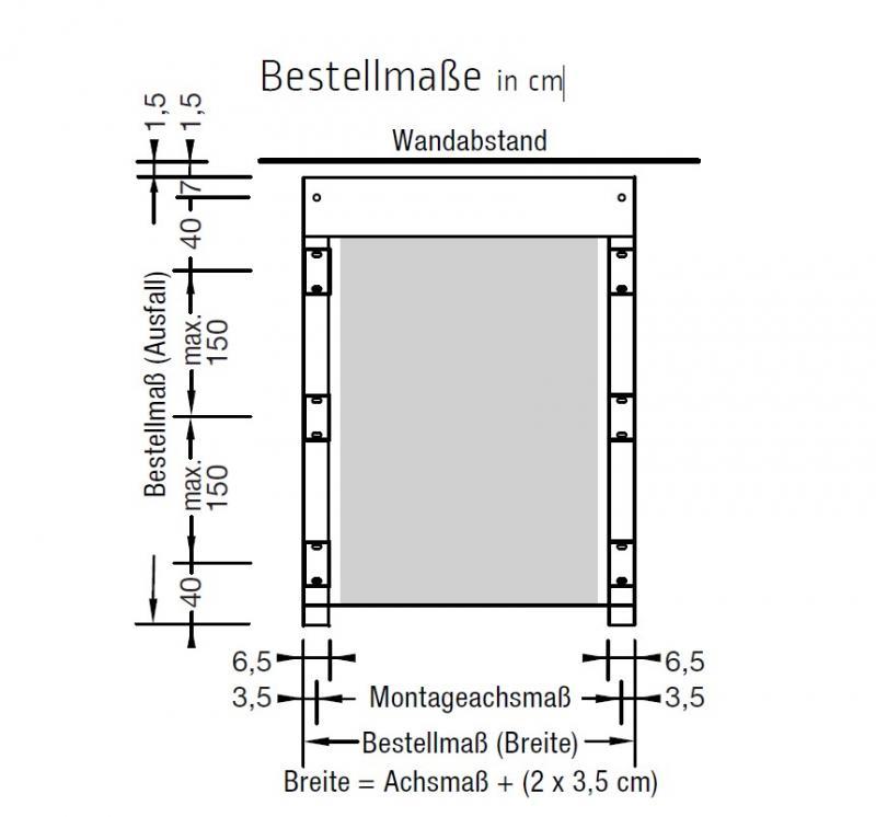 Montagehalter Kassette - für Lewens Portofino Unterglasmarkise